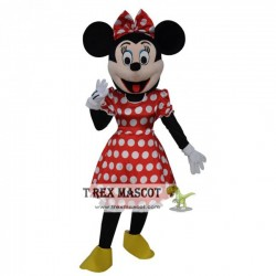Adult Minnie Mouse Cosplay Halloween Costume Mascot