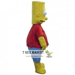 Adult Bart Simpson Mascot Costume