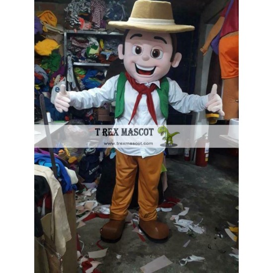 Zenon Man Farm Mascot Costume Character Cosplay