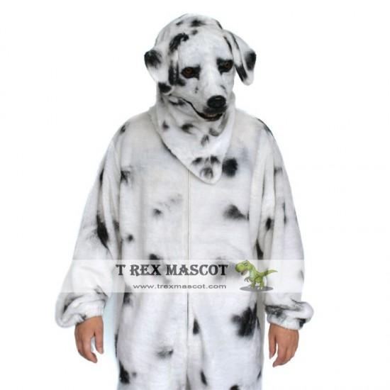 Realistic Dalmatian Dog Fursuit Mascot Costume