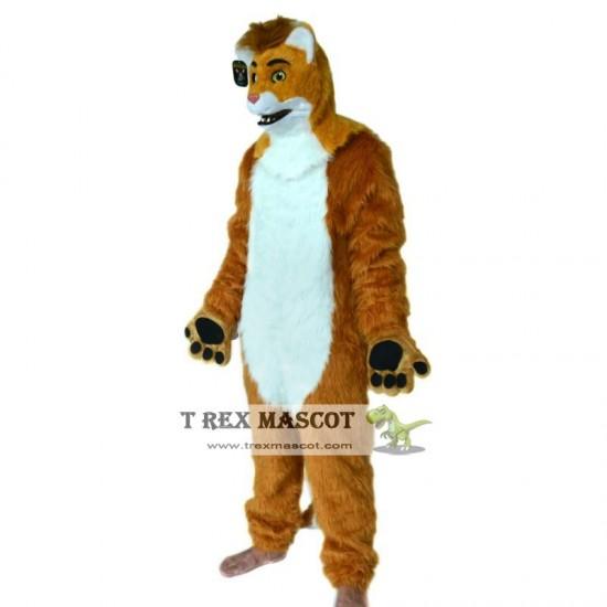 Realistic Brown Wolf Fursuit Mascot Costume