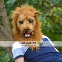 Realistic Lion Fursuit Head Mask Mascot Head