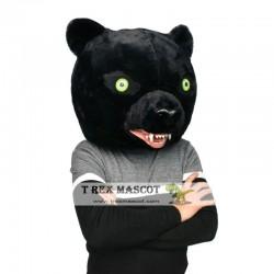 Realistic Black Panther Fursuit Head Mask Mascot Head