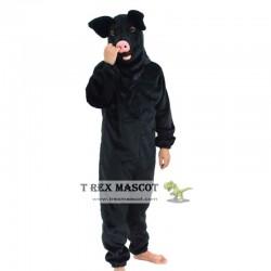 Realistic Black Pig Fursuit Mascot Costume