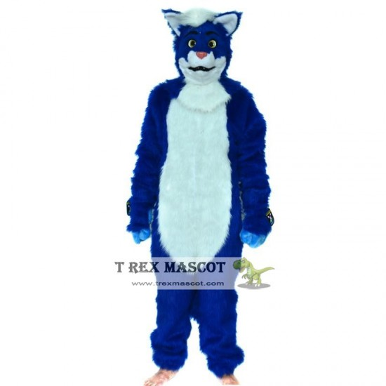 Realistic Blue Fox Dog Fursuit Mascot Costume