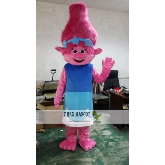 Trolls Girl Poppy Mascot Costume