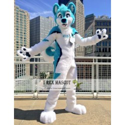 Husky Dog Realistic Fursuit Animal Mascot Costumes for Adults