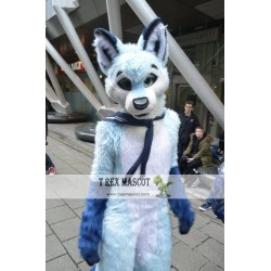 Dog Fox Wolf Girl Realistic Fursuit Animal Mascot Costumes for Adults