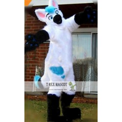 Halloween Long Fur Fox Wolf Realistic Fursuit Mascot Costume