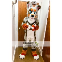 Husky Dog Wolf Realistic Fursuit Animal Mascot Costumes for Adults
